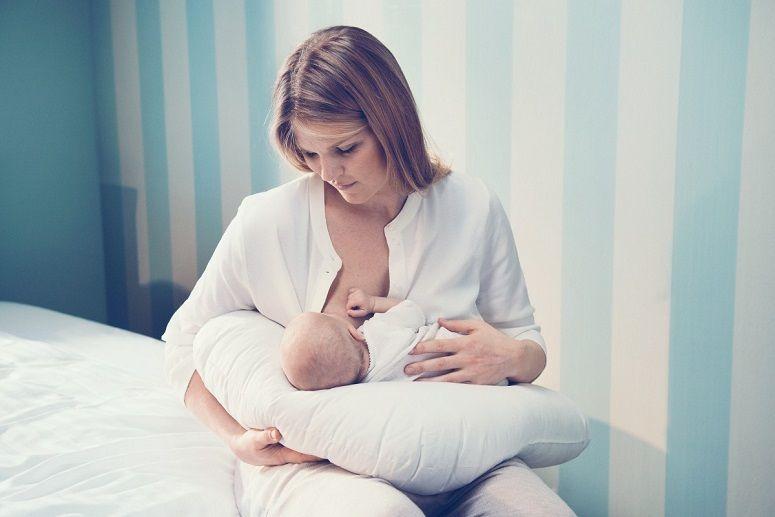 Baby In Nursing Pillow