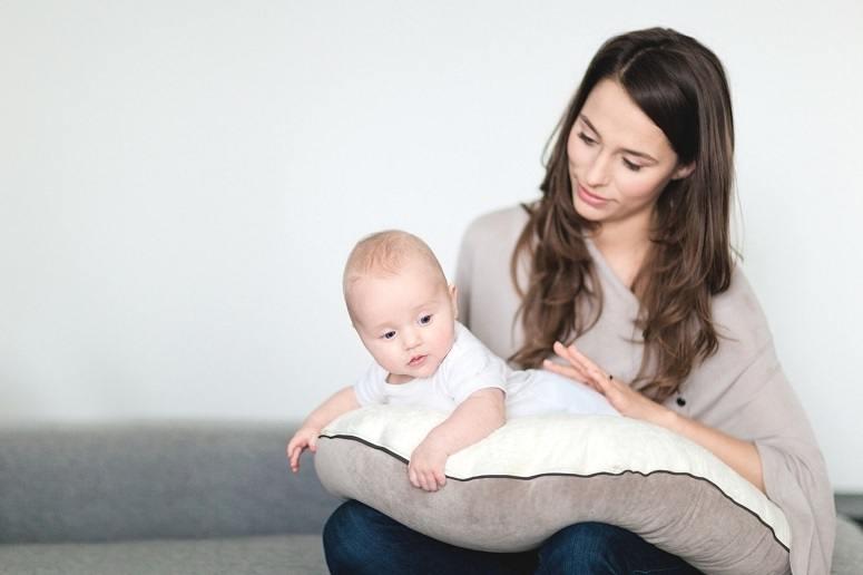 Baby On Nursing Pillow
